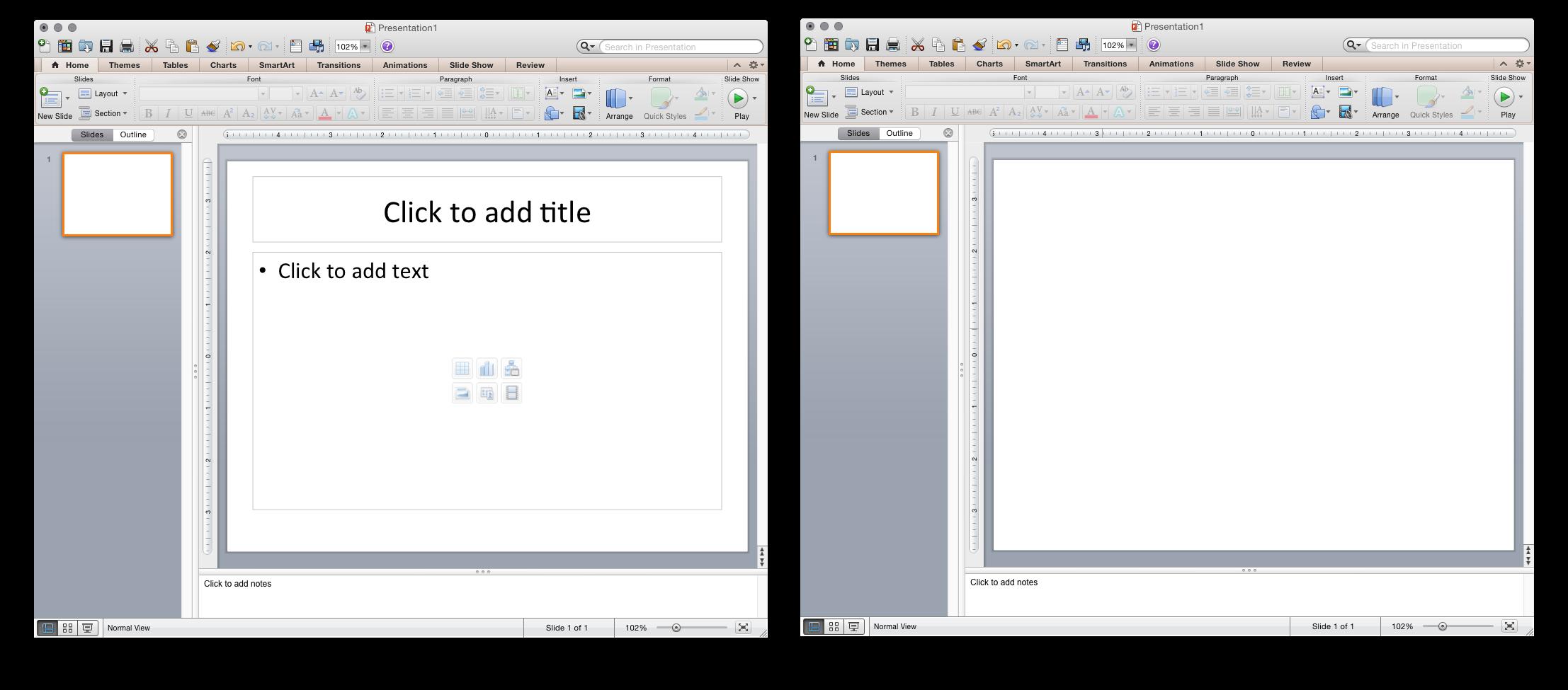 powerpoint default template